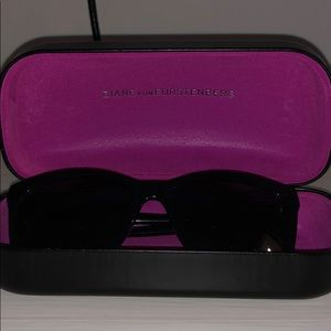 DVF black sunglasses